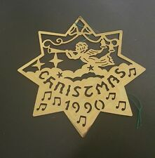 BIEDERMANN Christmas 1990 Brass Ornament Herald Angels ($266)
