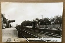 LARGE OLD PHOTOGRAPH OF OLTON  RAILWAY STATION