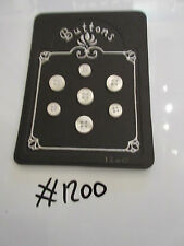 #1200 Lot of 7 White Pearlescent Buttons