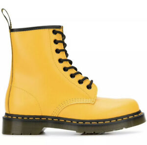 Dr Martens 1460 Smooth Leather 8 Eye Combat Boots Women's US 8 Yellow NEW $150