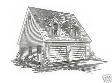 26 x 26 2 Car TD / LD Garage Building Blueprint Plans / Walk up Loft