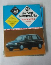 Revue technique EXPERT AUTOMOBILE 258 1988 Austin metro tous types