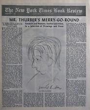 JAMES THURBER CARNIVAL DAN NORTON 1945 February 4 NY Times Book Review