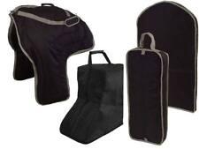 Tahoe Western Saddle, Boot, Bridle and Garment Carry Bag Set Black