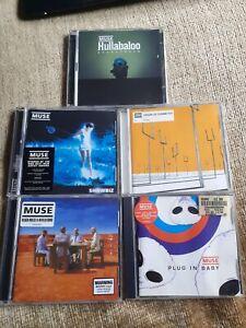 Muse CD Bundle x 5 - Plug In Baby, Hullabaloo, Showbiz, Black Holes and Rev