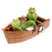 Floating Canoe Turtle Frog Figurine Sculpture Toy Garden Animal Ornament #10