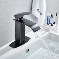 Single Handle Bathroom Sink Faucet Basin Mixer Tap Oil Rubbed Bronze With Cover