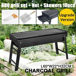 Outdoor Portable BBQ Charcoal Grill Fold Barbecue Camping Picnic Hibachi Smoker