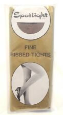 Vintage Spotlight Fine Ribbed Tights Pearl Grey One Size