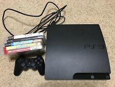 Complete Sony PS3 PlayStation 3 Slim 160GB Black CECH-3001A Console Bundle Games