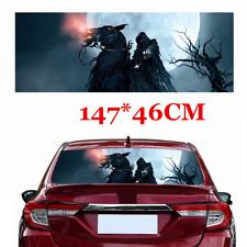 Horse Grim Reaper Skull Head Car Rear Window Windshield Vinyl Sticker Decal