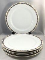 "Syracuse China OPCO MISTIC Blue 9 5/8"" Dinner Plates Set of 5"