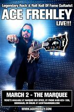 "ACE FREHLEY ""LIVE!!!"" 2016 PHOENIX CONCERT TOUR POSTER - Kiss, Hard Rock Music"