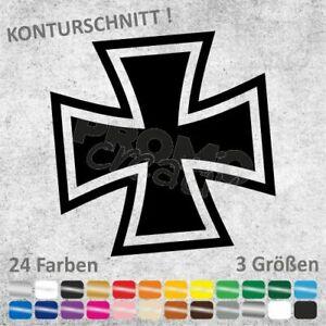 Eisernes Kreuz Iron Cross Aufkleber Sticker Autoaufkleber (3 Größen)