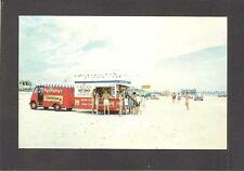 POSTCARD:  1950s CAROUSEL HOT DOG WAGON ON THE BEACH - DAYTONA BEACH, FLORIDA