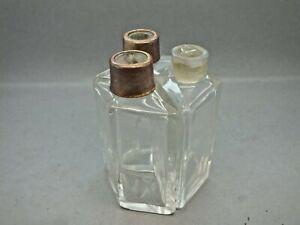 Late 18th C Trefoil Shaped Three Bottle Spirit Bottles Circa 1770