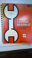 Car Service Manual (for professional use) 1974, Chek-Chart
