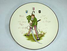 Geritzter seltener Teller mit Wappen um 1860 Keramik Sarreguemines Mettlach ?