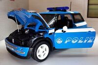 1:24 Scale 2007 BMW Mini Cooper S D Poliza Police Car Welly Diecast Model 22075