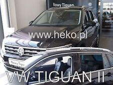 VW Tiguan II 5 door 2016-up wind deflectors 4pc set TINTED HEKO