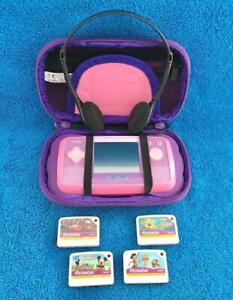 VTech MobiGo Pink Childrens Learning System w/ 4 Games And Carrying Case