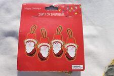 Santa Bell Holiday Christmas Ornaments Makes 4 Ornaments