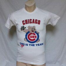 VTG 80s Chicago Cubs T Shirt Cartoon. MLB Baseball Bear World Series Tour Medium