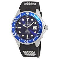 Invicta Pro Diver Automatic Blue Dial Black Polyurethane Mens Watch 11752