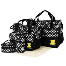 Baby Nappy Changing Bag Set Mat Mummy Bag Bottle Mat Holder Maternity 5 Piece US
