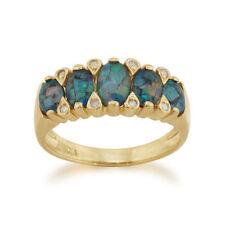 Anelli di lusso ovale in oro giallo opale