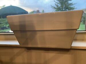 norcal sleek white rectangular window sill Ceramic flower pot planter Drainage