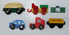 Wooden Cars for Wood Carrier Thomas Brio Comp lot