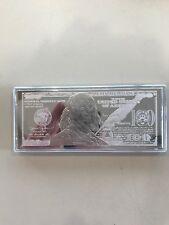 100 Dollar Silver Note - 4 Troy Oz .999 Fine Silver Art Bar