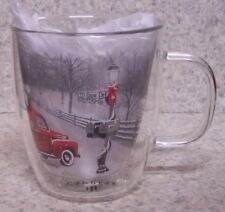 Coffee Mug Christmas Red Pickup Delivers a Tree NEW 12 ounce cup with gift box