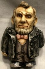 """Collectible Pot Belly """"Abraham Lincoln"""" 16th President Figurine 2003 Trinket Box"""
