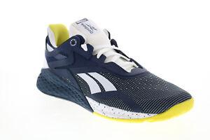 Reebok Nano X FW8473 Mens Blue Canvas Lace Up Athletic Cross Training Shoes