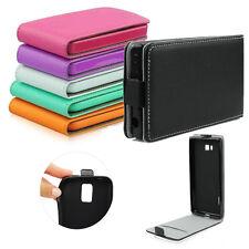 ^ Alcatel U5 3G 4047F Leder-Imitat Hülle Etui Cover Flip Case Flexi Silikon