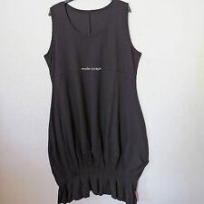 BORIS INDUSTRIES cooles Ballon Kleid Falten Lagenlook Baumwolle schwarz 48(5)