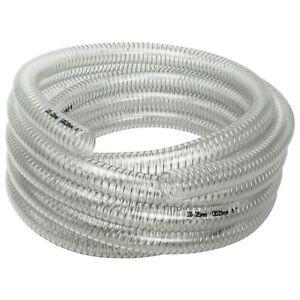 "AWM 1"" 7m Saugschlauch 25/30 Transparent Spiralschlauch Druckschlauch PVC"