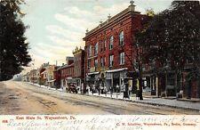 D68/ Waynesboro Pennsylvania Pa Postcard 1908 East Main Street Stores 2