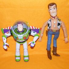 "THINKWAY TOY STORY BUZZ LIGHTYEAR 12"" ULTIMATE TALKING ACTION FIGURE 15"" WOODY"