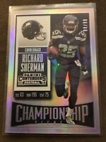 2015 Contenders Richard Sherman Championship Ticket Foil /99