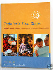 Toddler's First Steps Parenting Guide Book First Edition 2002 Paperback ~ryokan