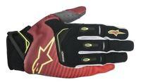 Alpinestars Techstar Gloves Red/White/Fluo Yellow Motocross Mx Quad Atv Off Road