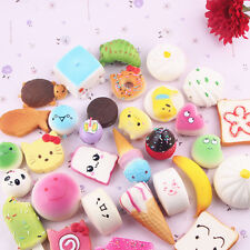 10pcs Squishy Charms Kawaii Soft Foods Squishies Cake Phone Straps Charm Toy AU