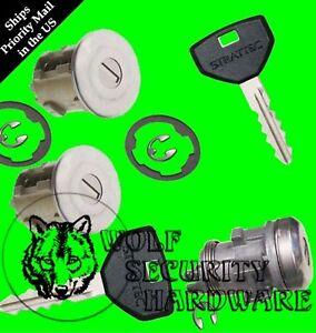 Jeep Cherokee & Grand Cherokee Door Lock Cylinder Pair & Rear Lock Set 2 Key