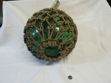 Green Large Authentic Japanese Roped Net Glass Fishing Float Bouy Ball 41 Inch