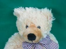 ADORABLE TY CLASSICS SHAGGY GOLDEN BLONDE BROWN TEDDY BEAR CHECKERED BOW /
