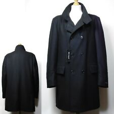 M&S AUTOGRAPH Italian WOOL & CASHMERE Gents' Tailored COAT ~ Size XL ~ Black