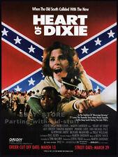 HEART OF DIXIE__Original 1990 Trade AD movie promo__ALLY SHEEDY__PHOEBE CATES